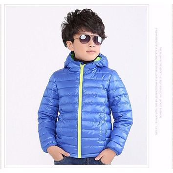 Children's Outerwear Boy and Girl Winter Warm Hooded Coat Children Cotton-Padded Clothes boy Down Jacket kid jackets 5-11 years