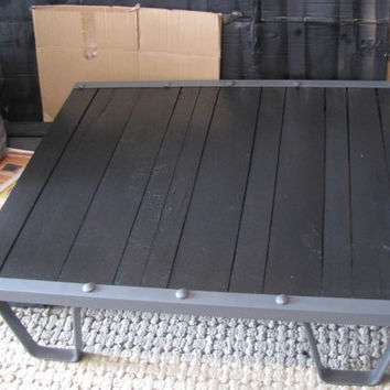 BACK IN STOCK!!  Vintage Industrial Machine Age Coffee Table.