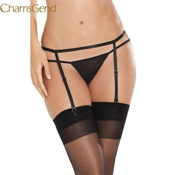 Chamsgend Newly  Sexy Women Lady Suspender Garter Belt G-String Thong Set For Stocking July8 Drop Shipping Chamsgend