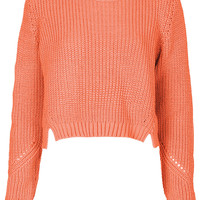 Knitted Rib Crop Sweat - Knitwear - Clothing - Topshop