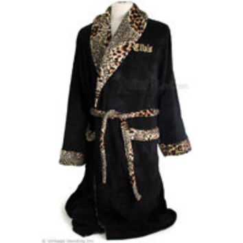 Elvis Presley Robes Embroidered Black Bathrobes from RetroPlanet.com