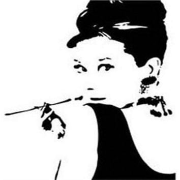 audrey hepburn wall stickers zooyoo 8107 patterns wall decals bedroom home decorations diy hot selling 2015 wall art living room