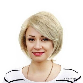 ONETOW Christmas Hot Synthetic Short Bob Wigs for White Women African American Wigs With Pixie Cut Straight Hair 150g/pcs YXCHERISHAIR