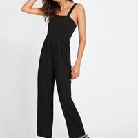 Adjustable Strap Button Back JumpsuitFor Women-romwe