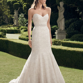 Casablanca Bridal 2176 Strapless Lace Mermaid Wedding Dress