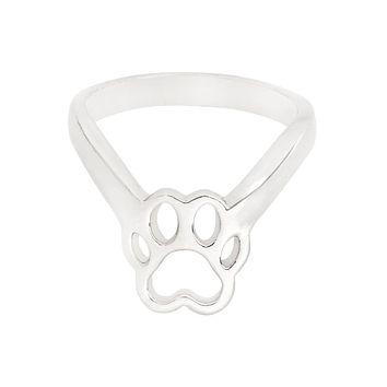 Hollow Dog claws Ring Fashion Puppy Paw Gold Silver Color Ring For Dog owner Friend Women Men Animal Pet Jewelry Gift