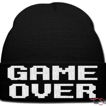 GAME OVER_PXF beanie knit hat