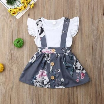 Fiona Floral Overall Skirt Set