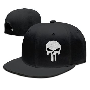The Punisher's Skull Flag Funny Unisex Adult Womens Snapback Caps Mens Baseball Cap