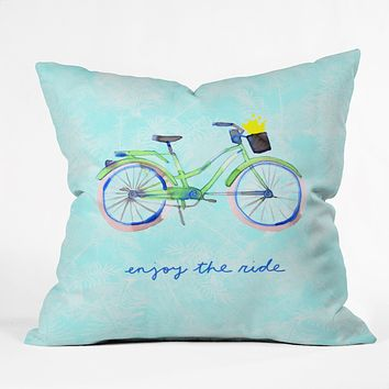 CayenaBlanca Enjoy Your Ride Throw Pillow
