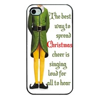 Christmas Iphone Case - Iphone 5 funny christmas case - Hard Plastic Black