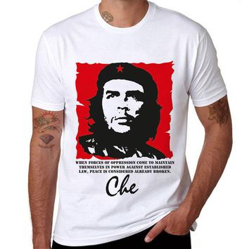 Che Guevara Hero Printed Cotton Men T shirt Short Sleeve Casual t-shirts Hipster Pattern Tees Cool Tops US/EUR Size
