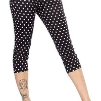 Polka Dot Peggy Capris Women's By Sourpuss