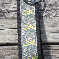 NEW, Key Chain, Camouflage, Yellow Browning Camouflage Fob, Key Holder, Key Ring, Accessory