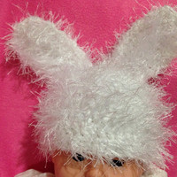 Newborn Furry Bunny Hat Ready to Ship