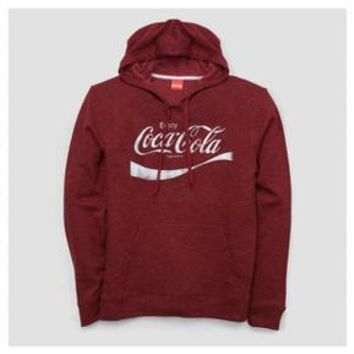 Men's Coca-Cola French Terry Pullover Sweater - Red