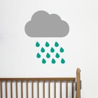 Raindrop Cloud Wall Sticker