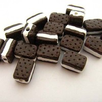 20 Tiny Ice Cream Sandwich Beads by TheCraftyBead on Etsy