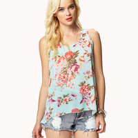 Floral High-Low Top