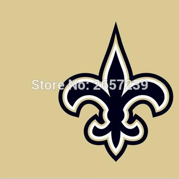 New Orleans Saints  wordmack RED  Flag 3x5FT NFL banner150X90CM 100D  Polyester brass grommets custom flag, Free Shipping