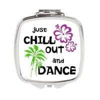 Chill Out & Dance Square Compact Mirror