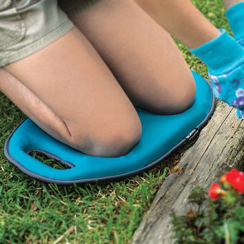 Foam Comfort Cushion Sitting or Kneeling Pad With Carrying Handle Blue