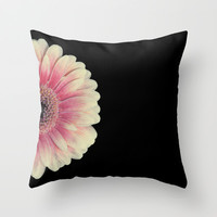 colored summer ~ red and black gerbera  Throw Pillow by Steffi ~ findsFUNDSTUECKE