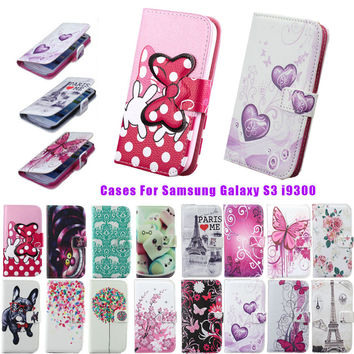 Flip Case For Samsung Galaxy S3 i9300 Luxury Stand Wallet Leather Phone Book Cover For fundas Samsung Galaxy SIII I9300 Coque