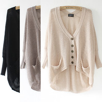 A 072902 Lazy Loose Bat Hollow Sweater-2 from psiloveyoumoreboutique