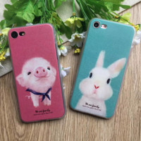 Cute Pig&Rabbit Phone Case Cover for Apple iPhone 7 7 Plus 5S 5 SE 6 6S 6 Plus 6S Plus + Nice gift box! LJ161007-005