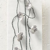 Sculpted Petals String Lights by Anthropologie in Cream Size: One Size House & Home