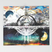 TwoWorldsofDesign Throw Blanket by J.Lauren
