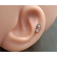 Flower Cartilage Earring Tragus Helix Piercing