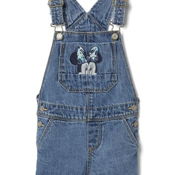 Gap | Disney Baby Minnie Mouse Denim Short Overalls Girls Size: 3 Years