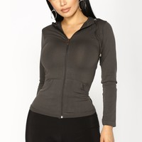 Classic Seamless Hoodie - Charcoal