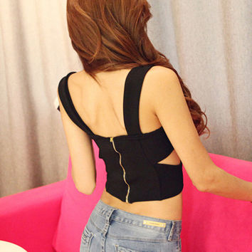 Strappy Cutout Wrap Bralet Top