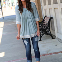 Happy Go Lucky Tunic {Sage}