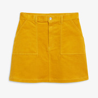 A-line cord mini skirt - Must-have mustard - Skirts - Monki GB