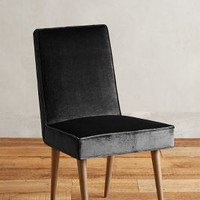 Slub Velvet Zolna Dining Chair by Anthropologie