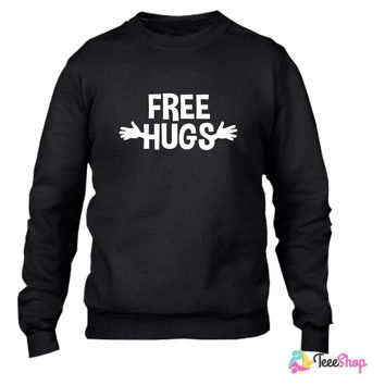 Free Hugs - Copy Crewneck sweatshirtt