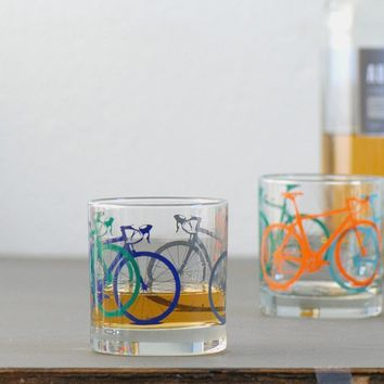 Vital Bicycle screen printed glassware set of four by vital
