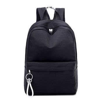 University College Backpack black  Women Teenage Girls Schoolbag Big  Students High School Bags High Quality Nylon back pack Female BagpackAT_63_4