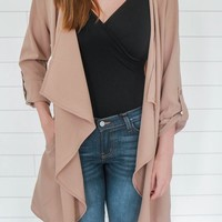 FAIR WEATHER JACKET - TAUPE