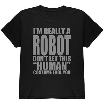 Halloween Human Robot Costume Youth T Shirt