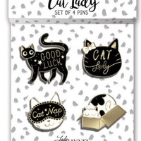 Cat Lady Pins Set/4