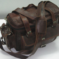 Distressed  Leather Camera case Camera satchel camera bag Travel camera case