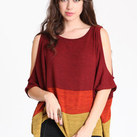 Transitions Colorblock Knitted Top - $36.00 : ThreadSence.com, Your Spot For Indie Clothing  Indie Urban Culture