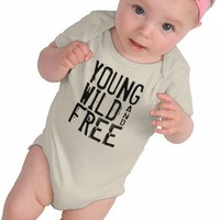 Young Wild and Free Baby Creeper from Zazzle.com
