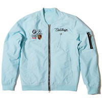 Club Foreign Light Spring Bomber Jacket Light Blue