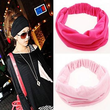 1pcs Wide Cotton Stretch Elastic Beauty Hair Wash Headband Hair Accessories Turban Headwear Bandage Head Hair Band